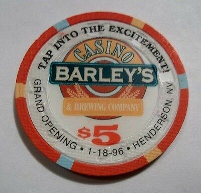 Barleys Grand Opening $5 Casino Poker Chip Henderson Nv Nevada Go