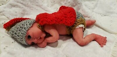 """NEW 7/"""" Painted Drink /& Wet Micro Preemie Full Silicone Baby Girl Doll /""""Kayla/"""""""