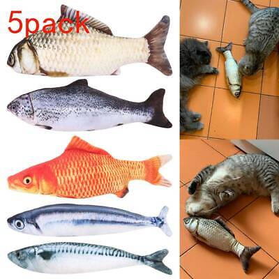 5 Pack Realistic Interactive Fish Cat Kicker Crazy Pet Toy Gift Catnip Toys