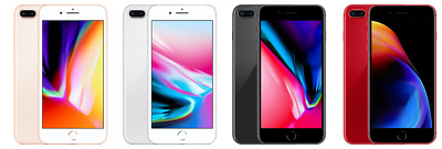 Apple iPhone 8 Plus - 64GB AT&T Gold Silver Gray Red C stock Unlocked