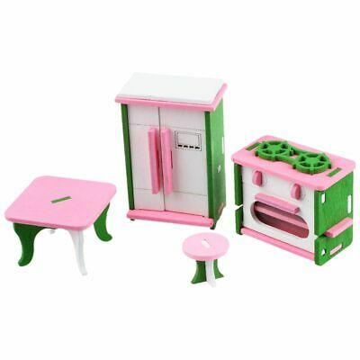 Baby Wooden Dollhouse Furniture Dolls House Miniature Child Play Toys Gifts K2C3