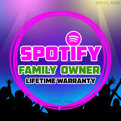 Spotify Premium Family Owner Account | LIFETIME | up to 6 Accounts | USA 👪 👪
