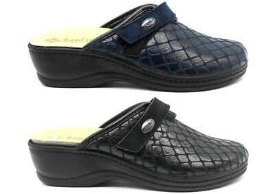 Slippers Woman Warm Black and Blue from 35 Al