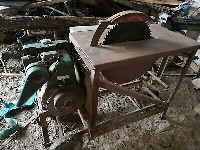 Petter AA1 single cylinder diesel saw bench site saw