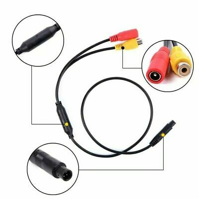 4-Pin Male to RCA Female & DC Jack Female CCTV Vehicle Camera Adapter Cable 30cm