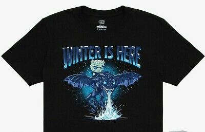 Funko Pop! Tee Icy Viserion T-Shirt Large Box Lunch Exclusive, NEW