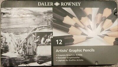 Daler Rowney ArtistsGraphic Pencils Pouch 12 Pencils for Chiaroscuro and Stretch