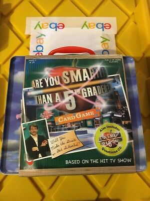 Are You Smarter than a 5th grader card game with CD new carry case TV Show *