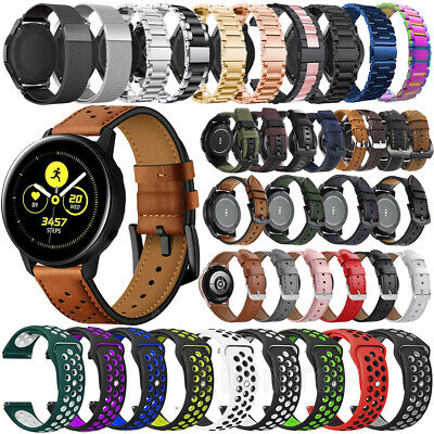 Silicone Leather Band Strap Bracelet For Samsung Galaxy Watch Active 2 40mm/44mm