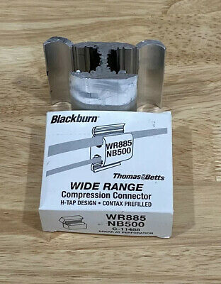 Blackburn Thomas & Betts Wr-885 Compression Connector H-Tap Design