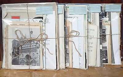 Junk Journaling ephemera pack for journals, a 70 piece kit of scrapbook paper