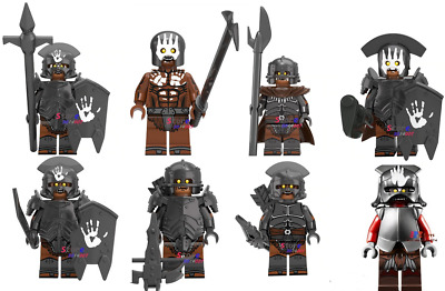 Lord of the Rings Hobbit Tolkien Orcs fits with lego