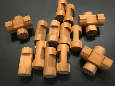 """Wooden LINCOLN LOGS Parts Lot 25 Small Log Pieces 1-1//2/"""" Dark Brown 1 Notch"""