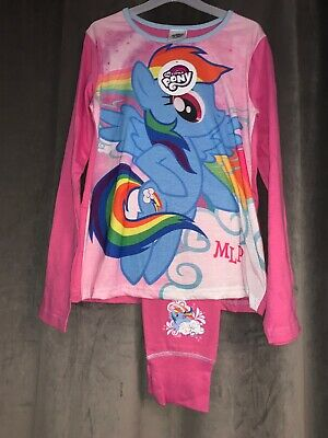 New My Little Pony The Movie Girls Long Sleeved And Leg Pjs Age 7/8 Yrs