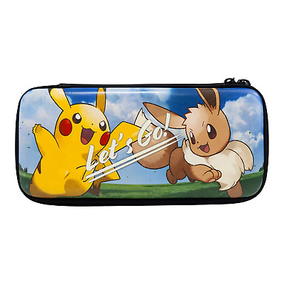 HORI Nintendo Switch Let's Go Pikachu/Eevee Pouch - Officially Licensed By &