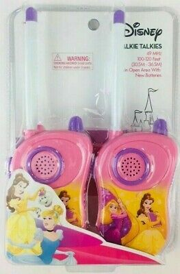 Disney Princess Pink Girls Walkie Talkie Two-Way Radio Set, NEW