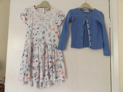Next beautiful summer outfit / set dress and cardigan aged 4-5 years