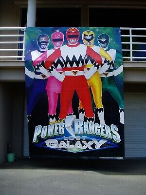 POWER RANGERS -- LOST GALAXY -- Vinyl Wall Mural -- ABSOLUTELY HUGE - EXCELL CON