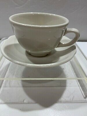 Cup & Saucer Set Homer Laughlin Best China USA Ivory White