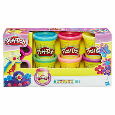 PLAY-DOH SPARKLE COMPOUND SET Butterfly Heart Cutter Modelling Mould Play Dough