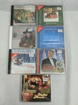 7 New Sealed Christmas CDs - All Different Titles Country Pop Rock