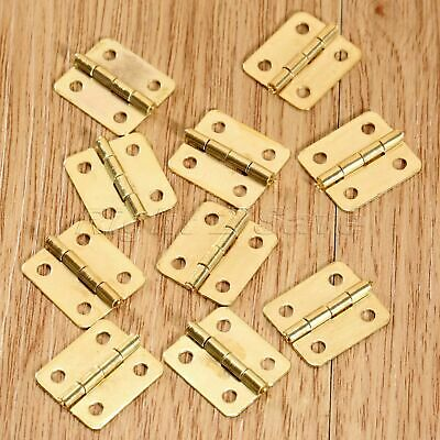Mini Hinge Small Decorative Jewelry Wooden Box Cabinet Door Hinges with Screws