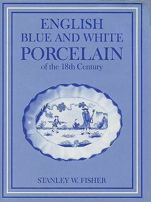 Antique 18th C English Blue White Porcelain incl. Makers Marks / Scarce Book