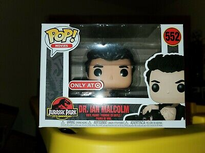 Funko Pop! Jurassic Park Dr. Ian Malcolm 552 Wounded Injured Target Exclusive ⛑