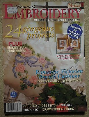 Romantic Embroidery Cross Stitch & Crochet Town & Country Needlecraft Magazine