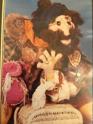 Cloth Doll Sewing Pattern - pirate wonderful sculpted face man gift toy craft