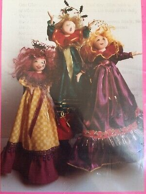 Cloth Doll Sewing Pattern - tree topper angel sweet pretty gift toy craft