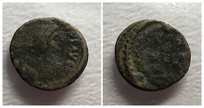 Late Roman Empire AE4 378-382 AD VOT X MVLT XX Within Wreath