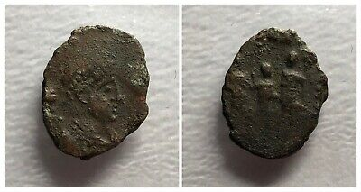 Late Roman Empire AE3 406-408 AD Three Emperors Standing