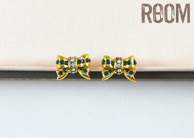 NEW Juicy Couture Pave Bow Studs Earrings
