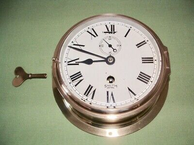 ships bulkhead brass clock in very good working condition with recent service