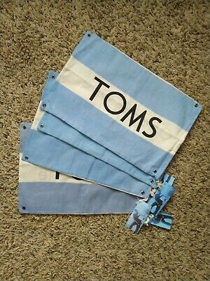 Tom's Shoes Dust Bags Lot Of 4 9,5x14