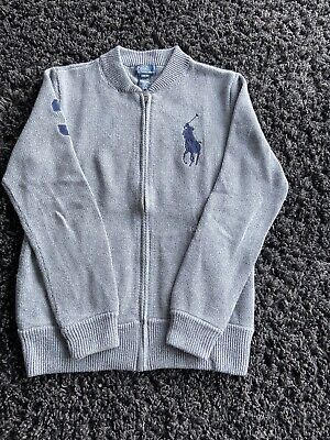 Boys Polo Ralph Lauren Grey Jumper Age 16/18 Excellent Brand New Condition