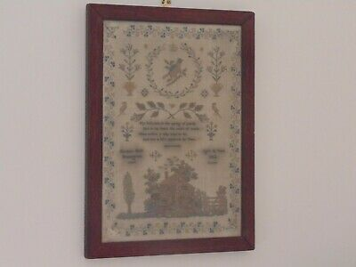 Antique Victorian Framed Sampler