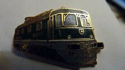 Pin's  Trains  Sncf  /  Locomotive  Re 6/6  1972  /  Emaille  /  Superbe