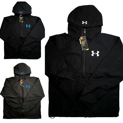 Mens Under Armour Storm Hybrid Waterproof Jacket Hooded Black Grey S M L XL