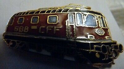PIN'S  TRAINS  SNCF  /  LOCOMOTIVE  Re 4/4 II  1967 /  EMAILLE  /  SUPERBE