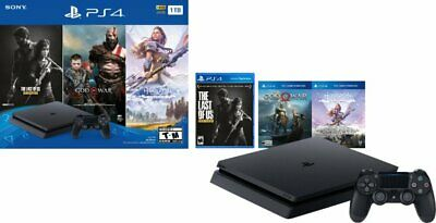 PlayStation 4 PS4 1TB Only on PlayStation Console Bundle with 3 Games Jet Black
