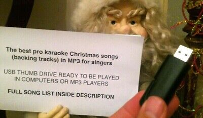 The best pro karaoke Christmas xmas songs / backing tracks in MP3 in USB drive