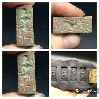 Wonderfull Old Four Side Differnet Intaglios Very Uniqe Cylinder Seal Bead