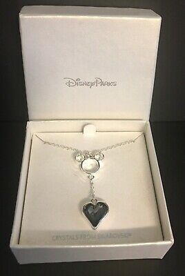 DISNEY PARKS Exclusive MICKEY MOUSE Swarovski Crystal Droplet Necklace