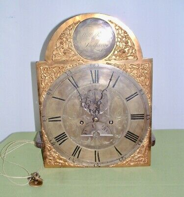 Longcase clock 18th.C. by Wm.Ray Sudbury 8 day movement in the original oak case