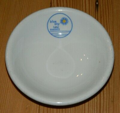 "Dudson Brothers China 3 7/8"" Butter Pat Blue Sky Hotel Rhodes"