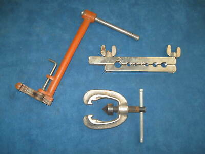 """3-Vintage Plumbing Tools...Andree 8"""" Faucet Basin Wrench & Double Flaring Tool"""