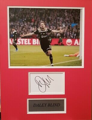 DALEY BLIND Signed 16X12 Photo Display AFC AJAX & NETHERLANDS COA