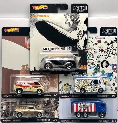 Hot Wheels 2020 Pop Culture Led - Zeppelin Complete 5 Car In Stock